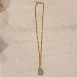Jewelry - Crystal Necklace on Gold Chain